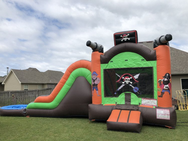 Pirate Combo 4-in-1 (Waterslide Set Up)